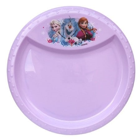 "Disney Frozen Party Serveware Collection, a Selection of Platters, Cupcake Stands, and More (8.5"" Diamond Rim Plate)"