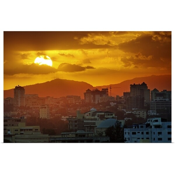 """""""Sunset over Santo Domingo"""" Poster Print. Opens flyout."""