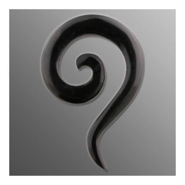 Organic Buffalo Horn Spiral Taper Tail (Sold Individually)