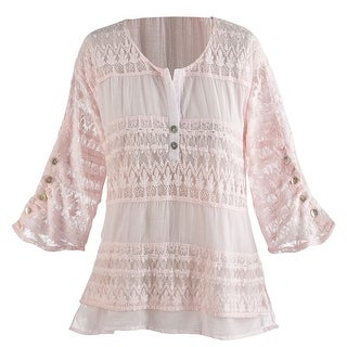 Women's Tunic Top - Powdery Pink Shirt