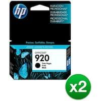 HP 920 Black Original Ink Cartridge (CD971AN)(2-Pack)