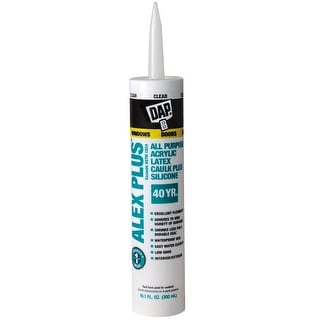 Dap 18156 Alex Plus Acrylic Latex Caulk Plus Silicone, 10.1 Oz