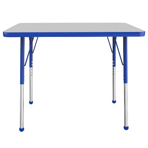 """24"""" x 36"""" Rectangle Activity Table with Adjustable Ball Glide Legs"""