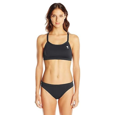 TYR Women's Durafast Elite Solid Diamondfit Workout Bikini TOP ONLY SZ Medium