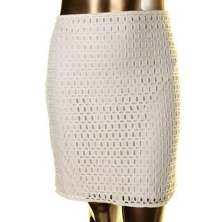 Studio M Womens Eyelet Casual Pencil Skirt - 10