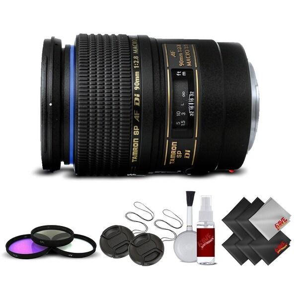 Tamron SP 90mm f/2.8 Di Macro Autofocus Lens for Canon International Version (No Warranty) Base Kit - Black