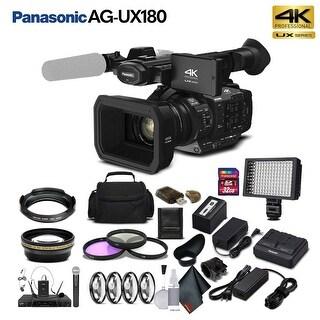 Panasonic AG-UX180 4K Premium Professional Camcorder (Intl Model) Bundle