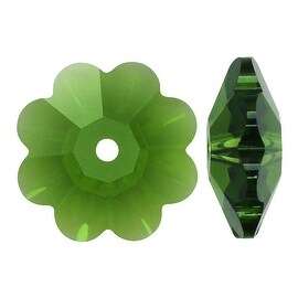 Swarovski Elements Crystal, 3700 Flower Margarita Beads 6mm, 12 Pieces, Fern Green