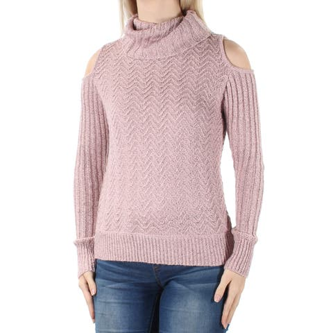 AMERICAN RAG Womens Pink Cut Out Long Sleeve Turtle Neck Sweater Size: S