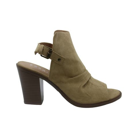 ESPRIT Womens Nicola Suede Peep Toe Ankle Fashion Boots