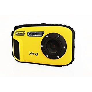 """Coleman Cable ELBC9WPYY Coleman C9WP-Y Xtreme3 20 MP Waterproof Digital Camera with Full 1080p HD Video (Yellow)"""