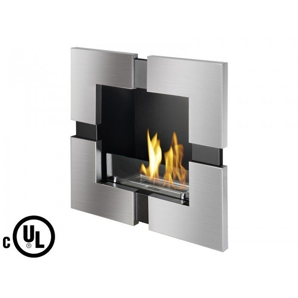 Ignis WMF-101-UL Tokio Recessed Ventless Ethanol Fireplace - UL/CUL - STAINLESS STEEL