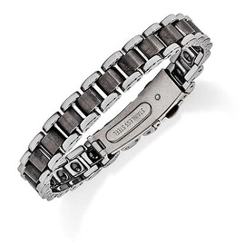 Chisel Tungsten Polished and Matte Bracelet - 8.5 Inches