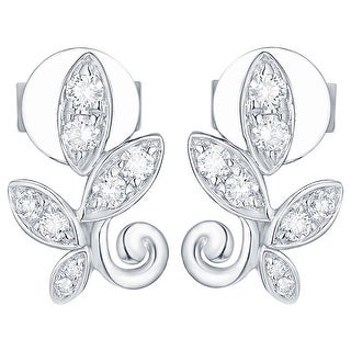 Prism Jewel 0.21Ct G-H/I1 Natural Diamond Olive Leaf Earring - N/A (More options available)