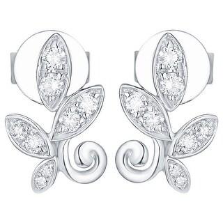 Prism Jewel 0.21Ct G-H/I1 Natural Diamond Olive Leaf Earring