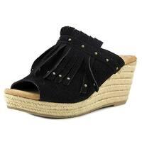 Minnetonka Women's Quinn Wedge Sandal - 71329Blk - 9