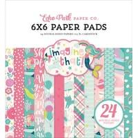 "Echo Park Double-Sided Paper Pad 6""X6"" 24/Pkg-Imagine That Girl, 12 Designs/2 Each"