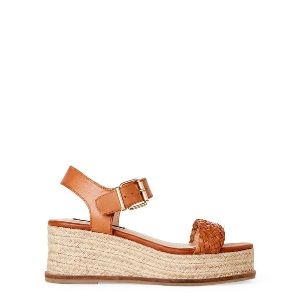 eb52cdd845c ... STEVEN by Steve Madden Womens sabble Leather Open Toe Casual Platform  Sandals ...