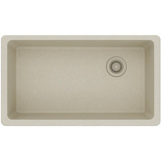"Elkay ELGU13322  Gourmet 33"" Single Basin Quartz Kitchen Sink for Undermount Installations"