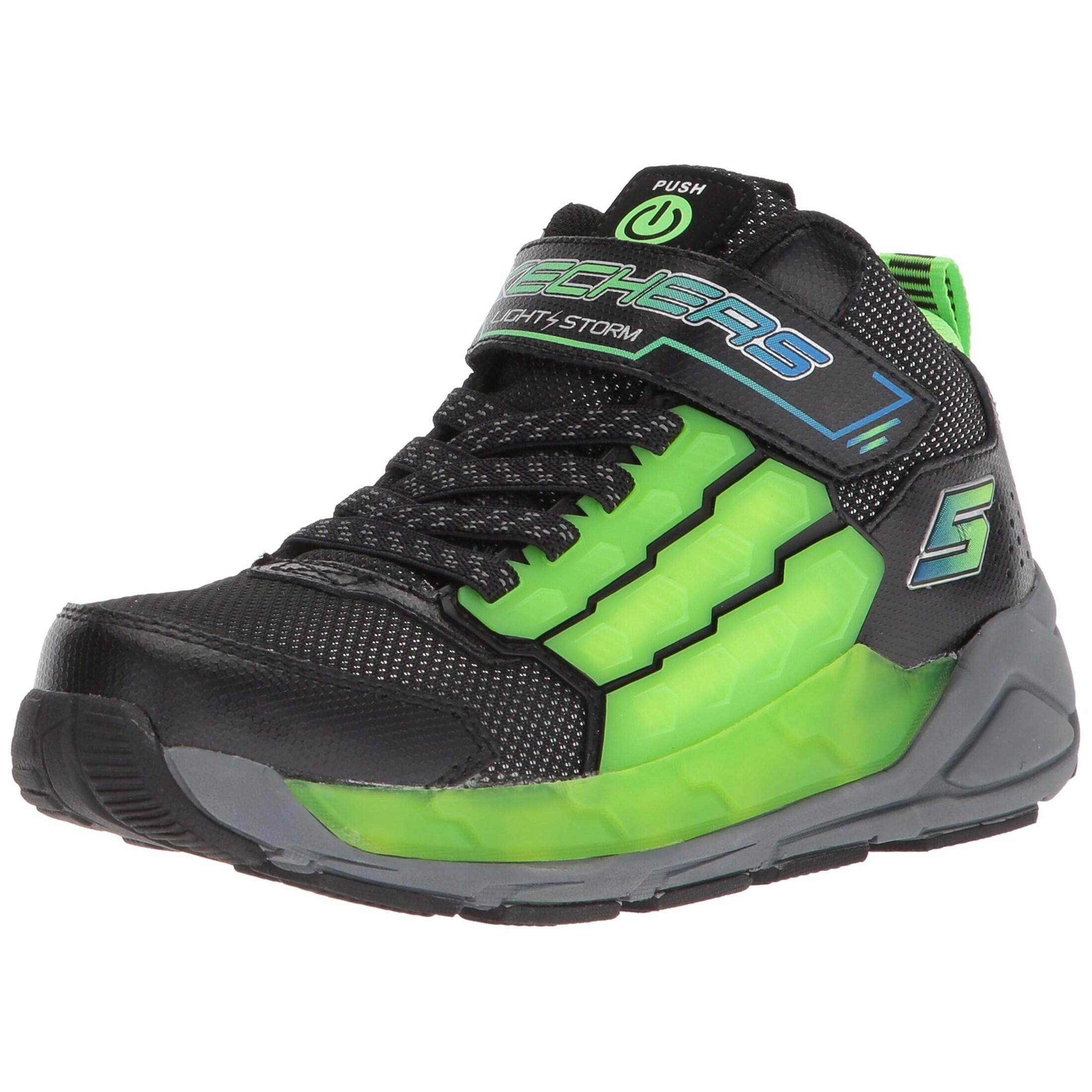 Skechers Kids Boys' Light Storm Sneaker BlackLime