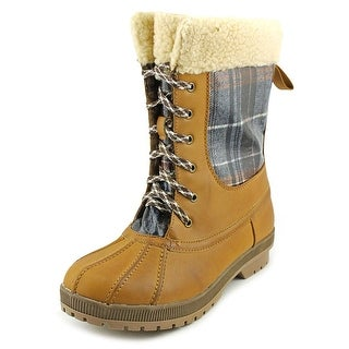 London Fog Swanley Women Round Toe Synthetic Blue Winter Boot