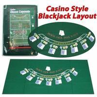 Trademark M340028 36 x 72 in. Blackjack Layout