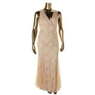 Xscape Womens Plus Lace Double-V Evening Dress - 16W