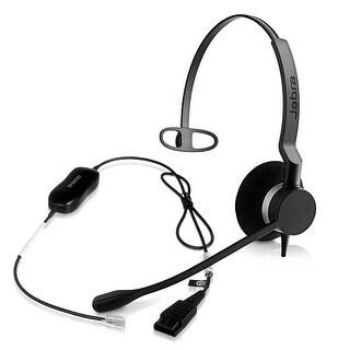 Jabra BIZ 2300 Mono QD Corded Headset w/ GN1200 Smart Cord-Comparable to Plantronics HW251N + A10-16