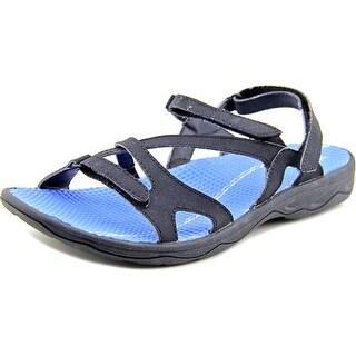 Easy Spirit Yamini Women Open-Toe Synthetic Black Sport Sandal