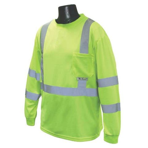 Radians ST21-3PGS-L Class 3 T-shirt Moisture Wicking, Green, Large