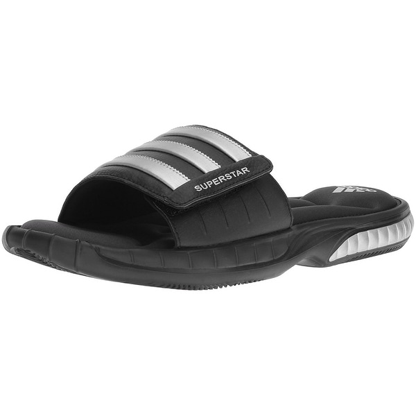 Adidas Superstar 3G CloudFoam Athletic Slide Sandals - Black/Silver