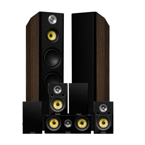 Fluance Signature Series Surround Sound Home Theater 7.0 Channel System - Walnut (HF70WR)