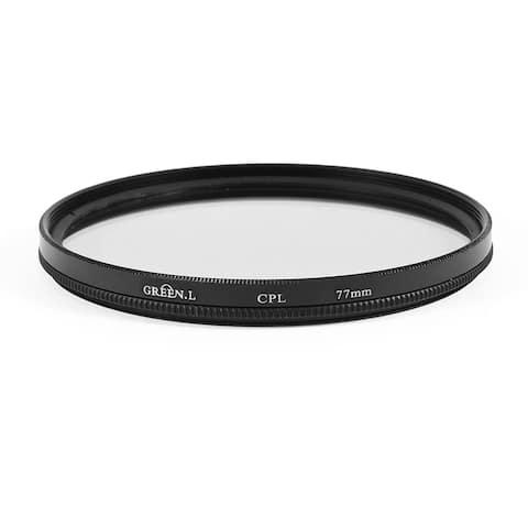 Unique Bargains Round Black Clear Circular Polarizer CPL Filter 77mm for DSLR Camera Lens