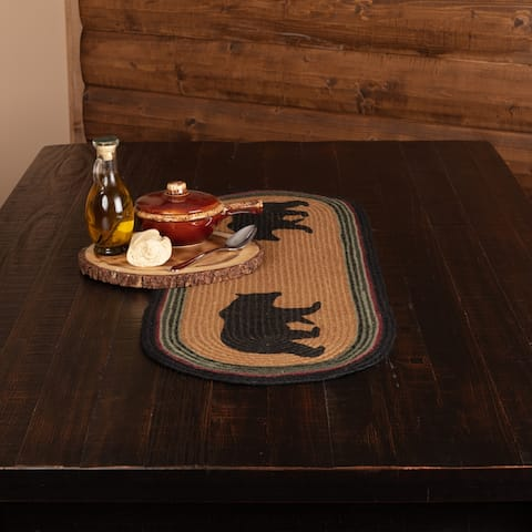 Wyatt Bear Stenciled Jute Runner