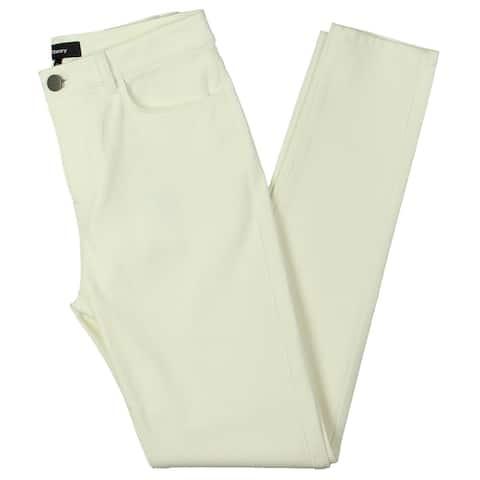 Theory Womens Skinny Pants Bi-Stretch 5 Pocket - White