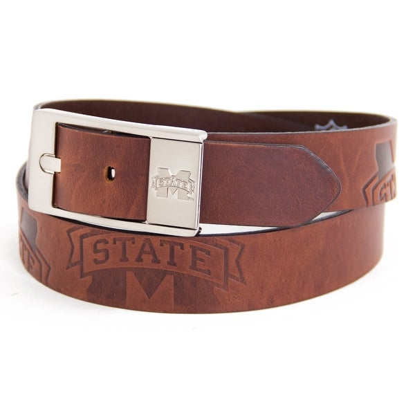 Mississippi State University Brandish Leather Belt