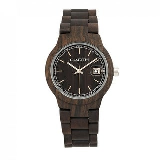 Earth Wood Biscayne Unisex Quartz Watch, Wood Band, Luminous Hands