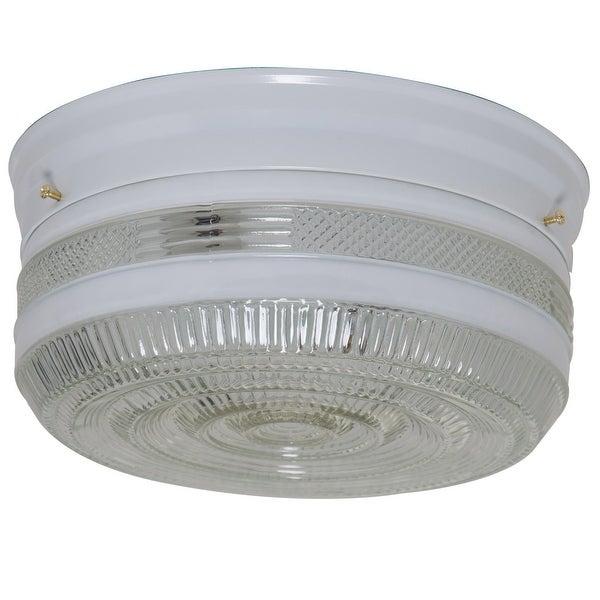Boston Harbor F15WH02-10043L Flush Mount Ceiling Light Fixture, White