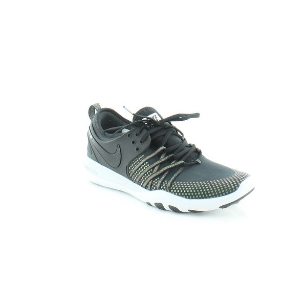 d295ff2eff04 Shop Nike Free Tr 7 Women s Athletic Black Black-Pure Platinum - 8.5 ...