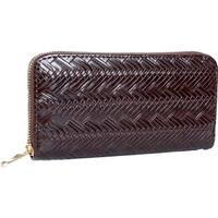 Mad Style Chocolate Herringbone Zipper Wallet