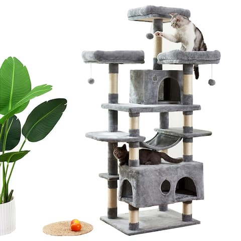 Large Cat Tree Condo with Sisal Scratching Post Perches Houses Hammock
