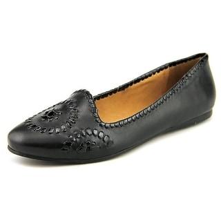 Jack Rogers Waverly Women Round Toe Leather Black Flats