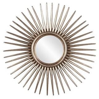 "Howard Elliott 84004 Cascade Silver Leaf Starburst 32"" x 32"" Mirror"