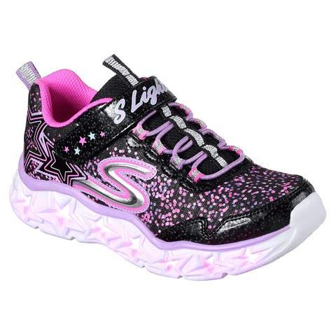 37e53507c85 Kids Skechers Kids Girls Glaxy Lights Low Top Lace Up Walking Shoes
