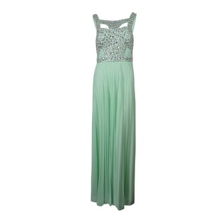 Betsy & Adam Women's Rhinestone Cut-Out Dress - 8