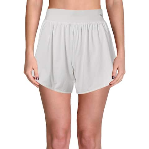 Puma Womens Shorts Yoga Running - Puma White - XS