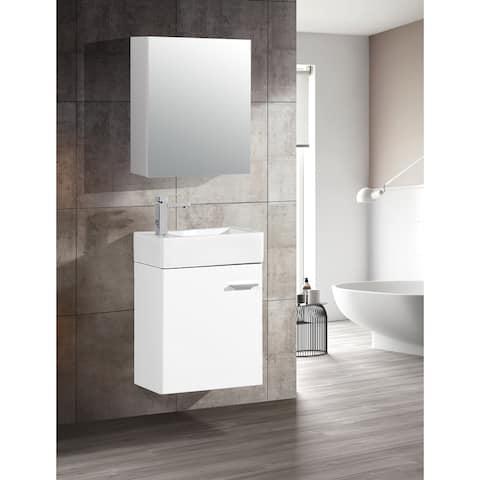 "Swiss Madison Colmer 18"" Single, One Cabinet, Bathroom Vanity"
