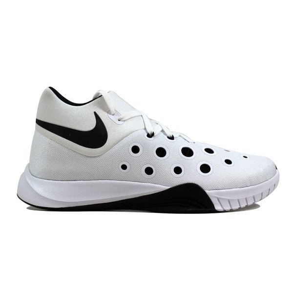 4cb17da8926e Shop Nike Men s Zoom Hyperquickness 2015 White Black 749882-100 Size ...
