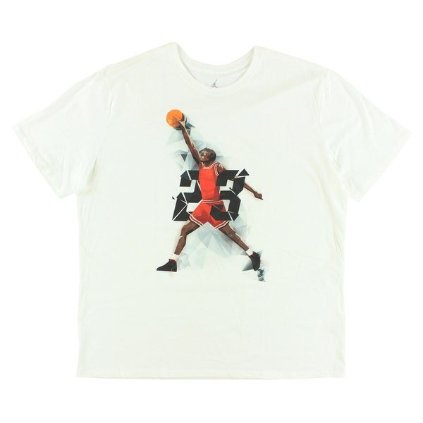 new product 7fdcd f2bb6 Shop Jordan Mens AJIX West Madison Street T Shirt White - white black red orange brown  - XxL - Free Shipping On Orders Over  45 - Overstock - 22613750