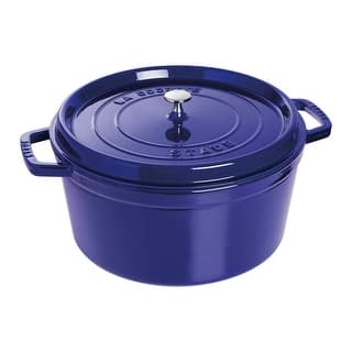 Staub Cast Iron 13.25-qt Round Cocotte|https://ak1.ostkcdn.com/images/products/is/images/direct/a7adf9bc542eacadfc850bc1119ac5e0837a2cd9/Staub-Cast-Iron-13.25-qt-Round-Cocotte.jpg?impolicy=medium